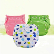 Baby Cloth Reusable Diapers Nappies Washable Newborn Ajustable Diapers Nappy Changing Diaper Children Washable Cloth Diapers(China)