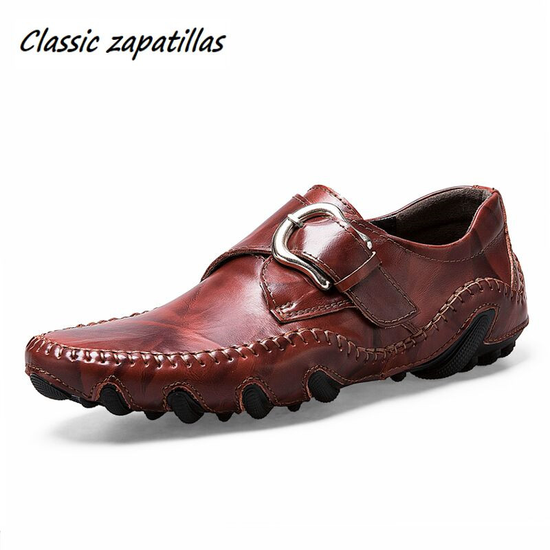 Spring Autumn Split Leather Men Shoes Business Casual Leather Shoes Men Flats Moccasins Fashion Driving Shoes For Male