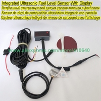 Integrated Ultrasonic Fuel Level Sensor With Display For Water Diesel Petro Palm Oil Generator Fuel Tank Range 1.2M RS232