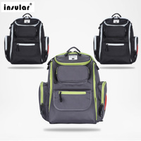 INSULARMummy Maternity Baby Care Nappy Bag Brand Large Capacity Baby Dry Wet Bag Travel Backpack Nursing Diaper Bag