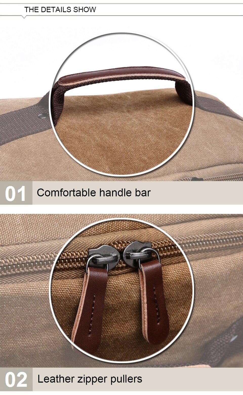 8 Canvas Backpack 15.6'' Laptop Backpacks Men Bagpack Wearproof School Bag for Teenage Male Knapsack Travel Bags Fashion Rucksack
