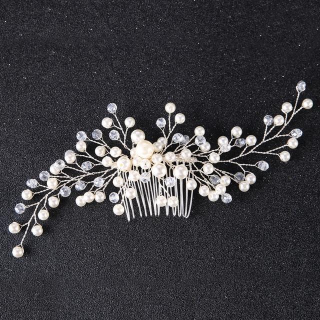 Bridal Hair Combs Ornaments Fashion Hairwear Wedding Hair Accessories Comb for Hair Women Girl Headpiece Headdress Decoration