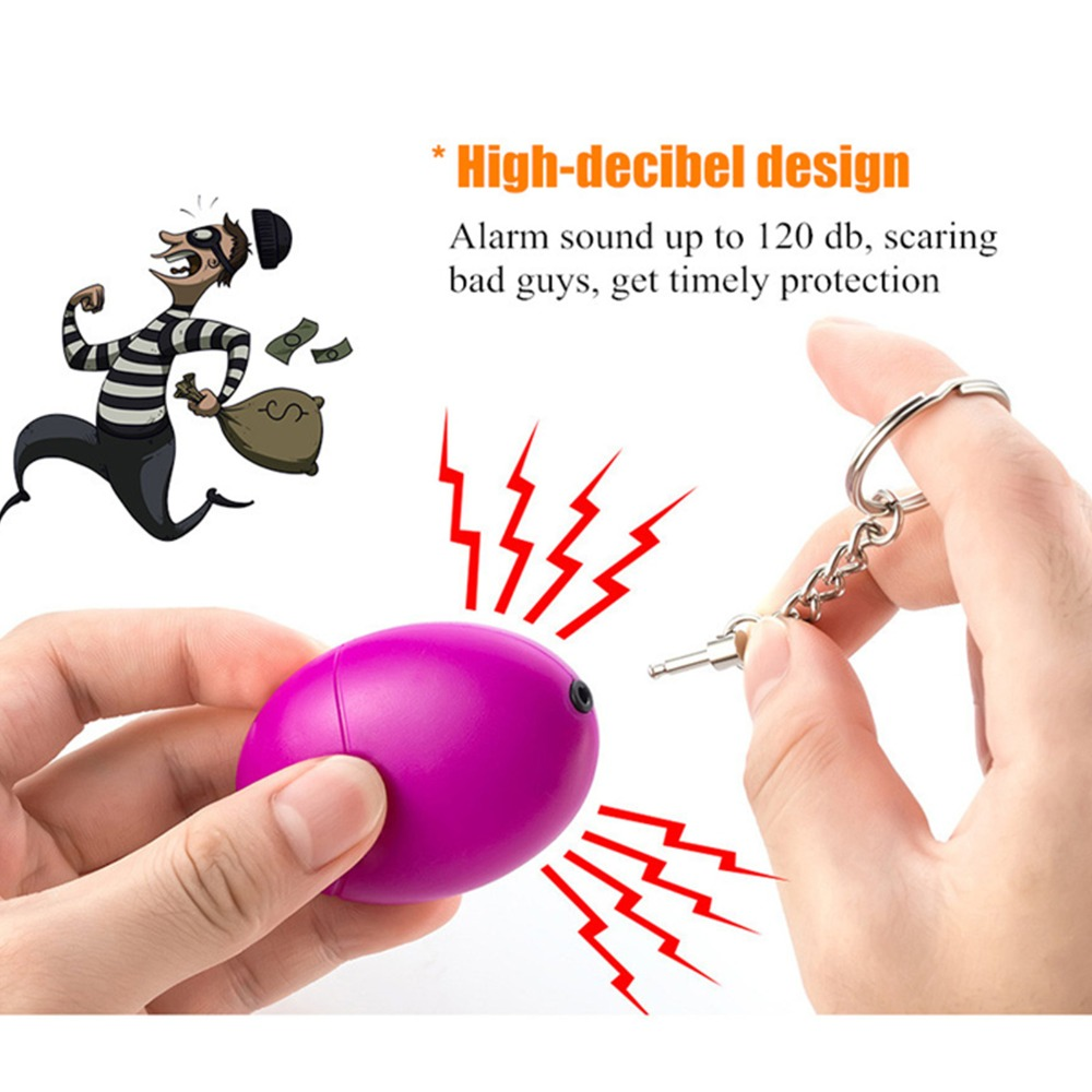 1pcs SOS Self Defense Alarm Keychain Personal Alarm Siren For Women Protect Against Intruders And Attackers 120db Self Defence