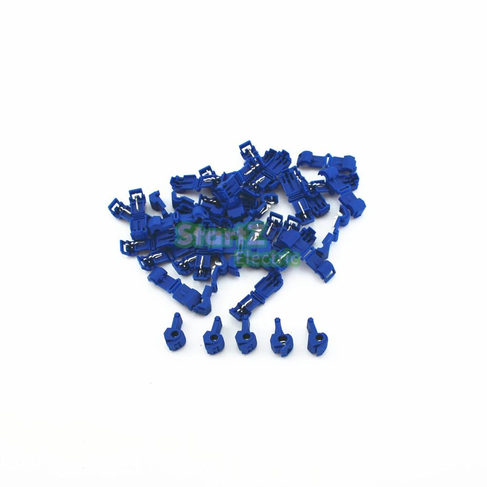 100pcs Blue Quick Splice Wire Male Spade Connector 25 40mm 16 Electric Fence Joiner 25pcs 14awg Scotch Lock Connectors