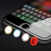 Bling Rhinestone Diamond Home Button Sticker For iPhone X 7 8 Plus 6 6s 5s SE 4For iPad Support Touch ID Fingerprint Recognition