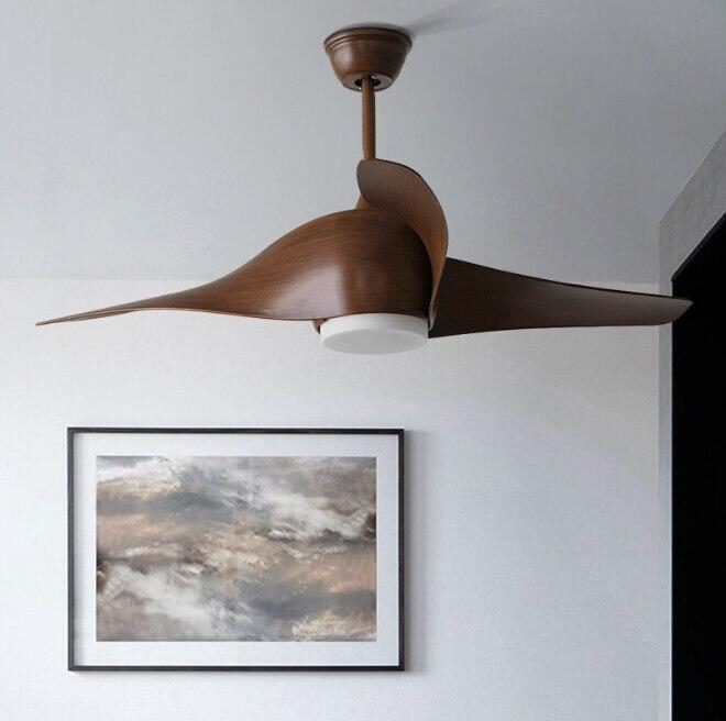 Коричневый Винтаж потолочный вентилятор с подсветкой Ventilador де Techo 220 вольт Спальня потолочный светильник лампа вентилятор светодиодный лам