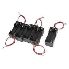 5 pieces plastic battery holder box 4 x AAA black + red