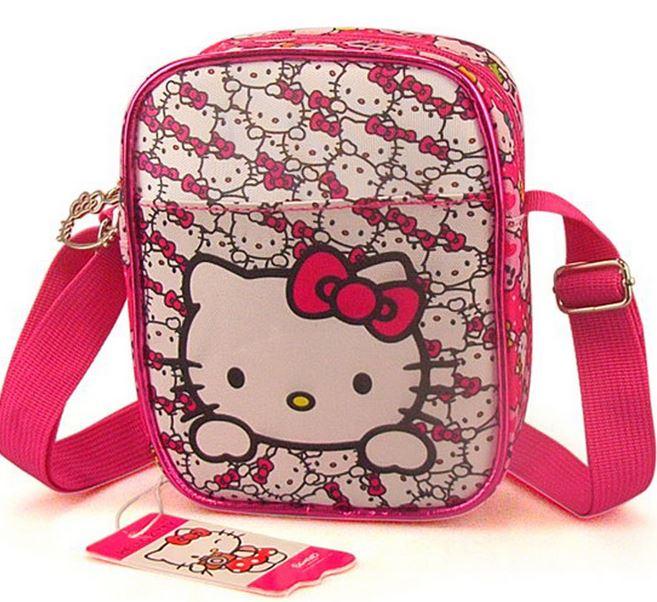 high quality NEW Kids Girl Hello kitty Shoulder Bag Girls Small Bag Nursery School bags travel shopping bag Gift free shipping