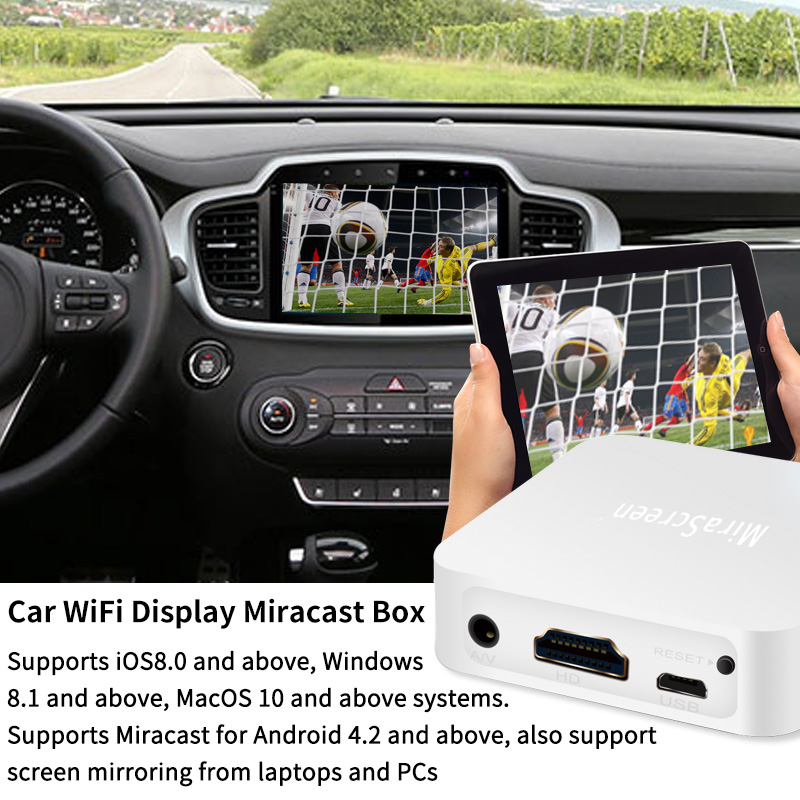 2018 Car Wifi Display Smart TV Stick Dongle Wireless Screen Mirroring Airplay DLNA Miracast Dongle for Iphone Windows Android