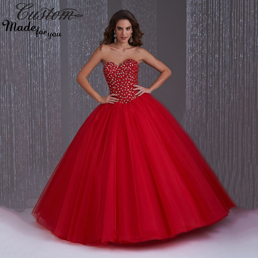 Popular Sweet 16 Dresses Puffy Red-Buy Cheap Sweet 16 Dresses ...