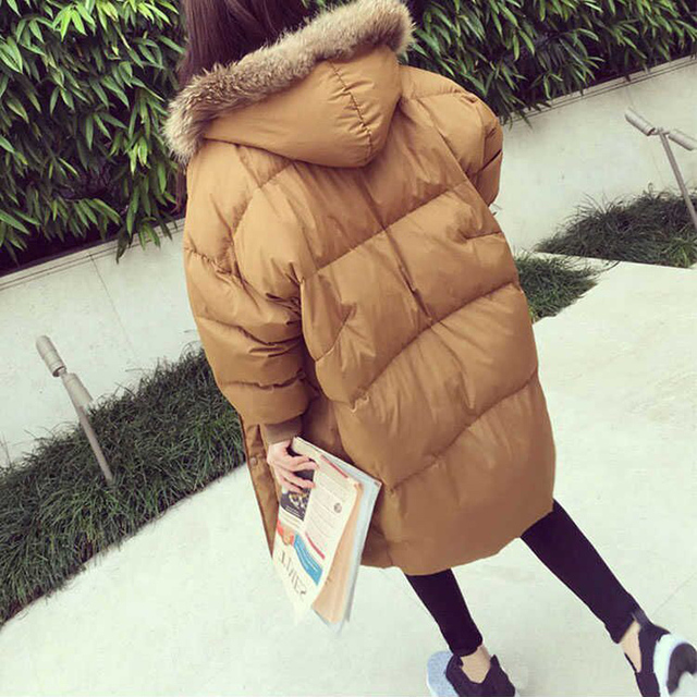 da8f94df3 US $35.92 39% OFF Winter Jacket Oversized Women Parka Coat Fur Quilted Long  Large Big Plus Size Female Warm 2018 Down Clothes Outerwear Puffer 63-in ...