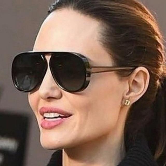 ba632f98344 NYWOOH Oversized Sunglasses Men Women Luxury Brand Designer Vintage Big  Frame Sun Glasses Female Male Black