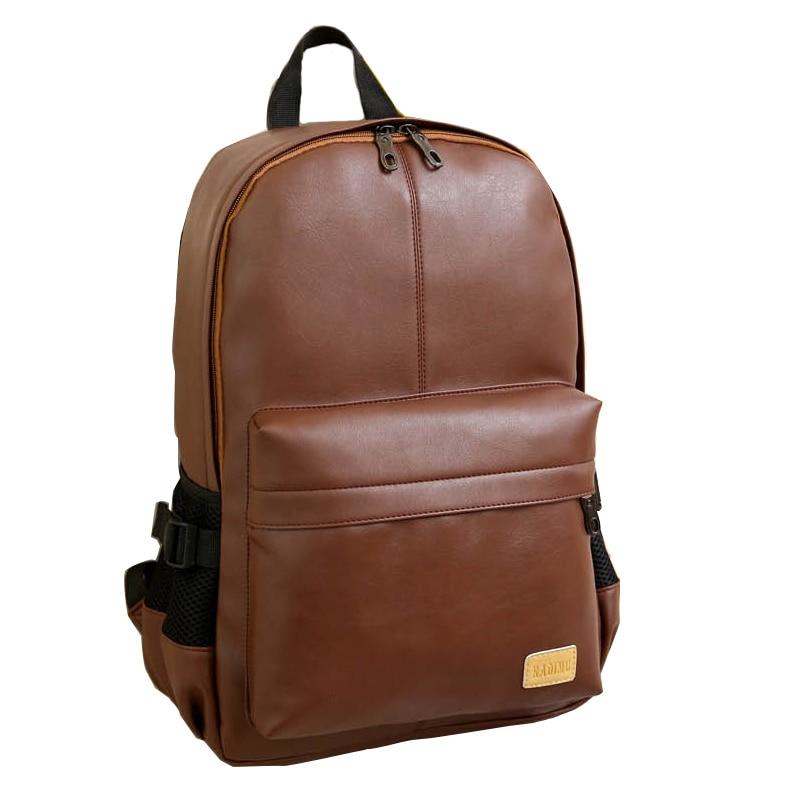 2019 Male Backpacks Men College School Bag For Girls Daypacks Travel Laptop Backpack Men Backpack Casual PU Leather Backpack