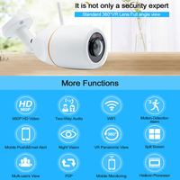 360VR Panoramic H 264 Wifi 960P IP Camera Multi Screen P2P Audio Wireless Email Alert Night