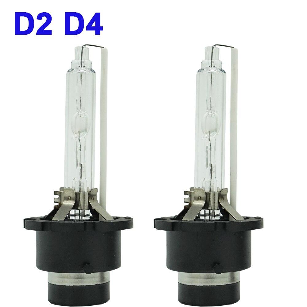 2pcs D1S D2S D3S D4S HID Bulb D1R D2R D3R D4R Xenon Lamp 4300K 6000k 8000k 10000k High Low Hid Headlight Xenon Headlamp 12V 35W (2)