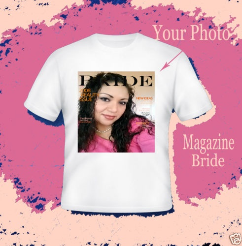 Custom T Shirt Family ALP Custom Personalized Man Woman family bride groom T- Shirts with Pictures  Inserted Photo & Text or Logo Shirt Magazine T-Shirt