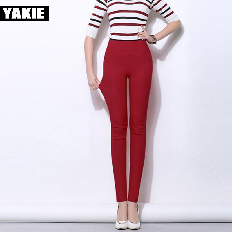 af2e63f890c62 Plus size 5XL 18 Colors Candy Color Leggings For Women 2017 Summer High  Waist Stretch office Girls Skinny Leggings Female pants-in Leggings from  Women s ...