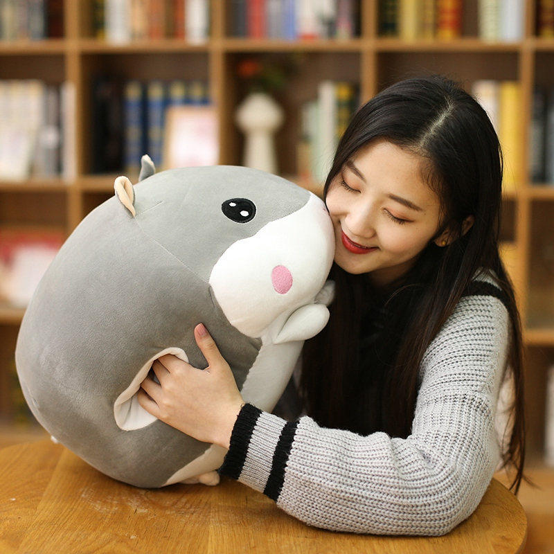 45cm Hot Creative Hand warmer soft pillow hamster Plush Toy for children office Plush Anime Stuffed Doll 2018 talking hamster mouse pet plush animals toy hot cute speak talking sound record educational toy for children gift