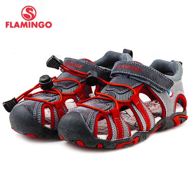 FLAMINGO famous brand 2016 New Arrival Spring & Summer Kids Fashion High Quality sandals for boys 61-DS105/61-DS106