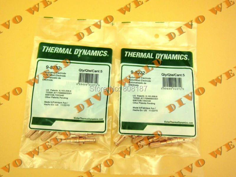 25pcs 9 8232 electrode for thermal dynamics SL60 SL100 Free shipping TNT 4 day you will