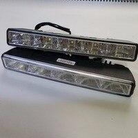 CNLM High Quality 2 Pcs Car Drl Daytime Running Light Front Daylight 5 LED Fog Lamp