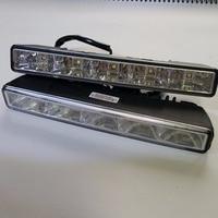 CNLM High quality 2 pcs car drl Daytime Running Light front daylight 5 LED fog lamp waterproof dimmer flash E4 R87 ECE RL00