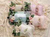 Newborn photography props pillow + headwear set flowers headwear & pillows photo shooting baby posing props