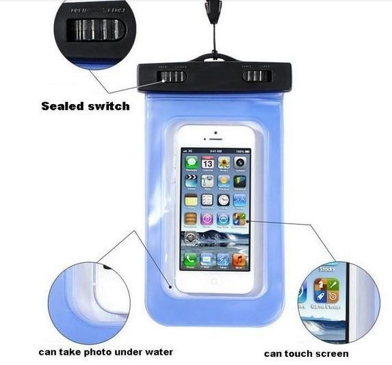 Поливинилхлоридный водонепроницаемый чехол для телефона Чехол подводный телефон сумка для Samsung Galaxy S5 S3 S4 для Iphone 4 4s 5 5S 5C все мобильный телефон часы и т. Д