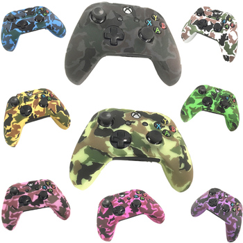 For Xbox one X One Slim ONES Gamepad Protect Camouflage Camo Controller Silicone Gel Guards Soft sleeve Skin Grip Cover Case