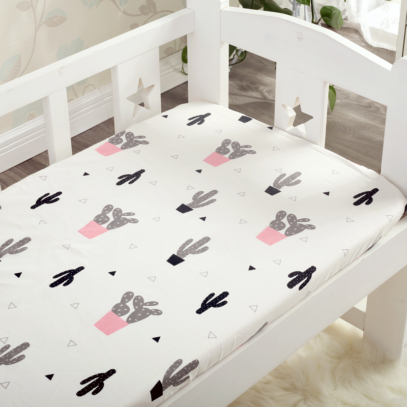 1pcs 100% cotton Mattress cover 24 colors cotton baby fitted sheet for baby girls boys crib bed sheet Baby bed mattress cover
