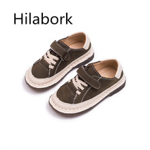 Hilabork Boy board shoes children s shoes shoes primary school students  soft bottom leisure girls shoes autumn ff4f33ea0c6f