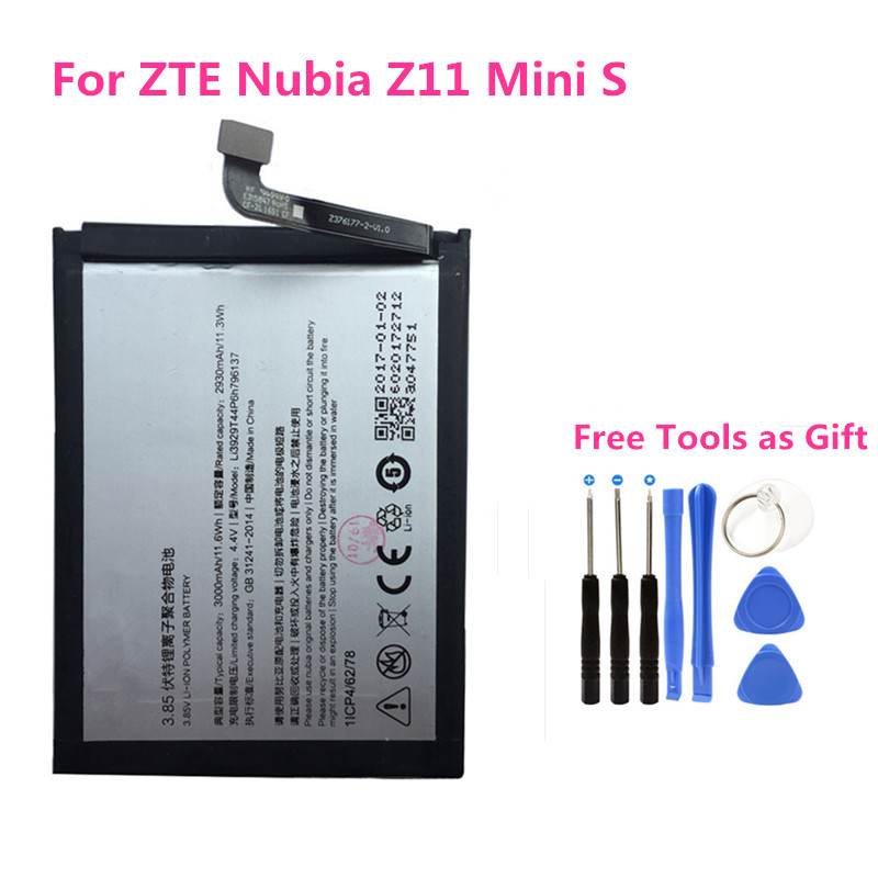 Li3929T44P6h796137 phone Built in Battery 3000mAh For ZTE Original Nubia  Z11 mini S NX549J Z17mini Z17 NX569H NX569J +free tools