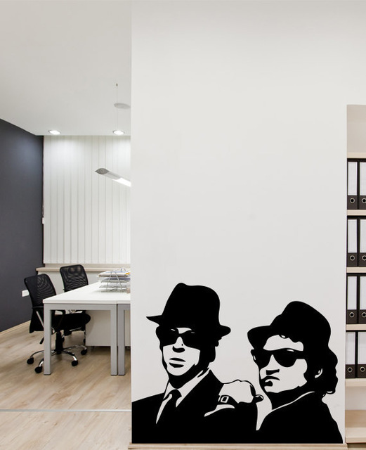 New 2017 The Blues Brothers Wall Decal Bedroom Art Decor Wallpapers Stickers Size 5368cm In From Home Garden On