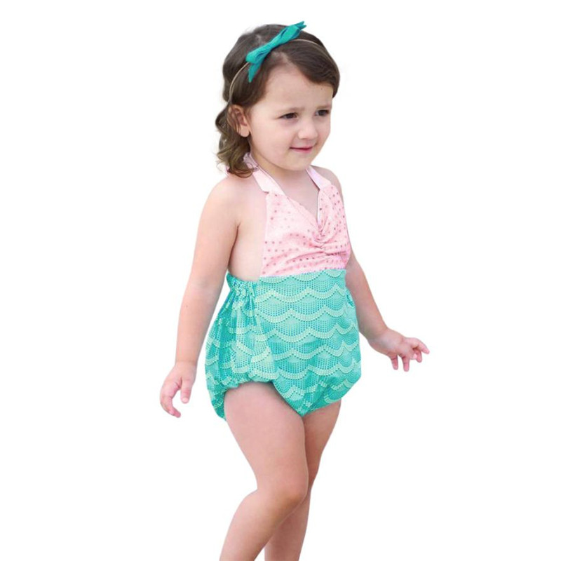 ARLONEET Baby Girl Swimwear One Piece Girl Sequin Strap Bikini Beach Swimsuits Rompers T ...