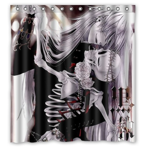 Wale Dropship 2015 Good Quality Black Butler Decorate Bathroom Shower Curtain 66 X 72 60