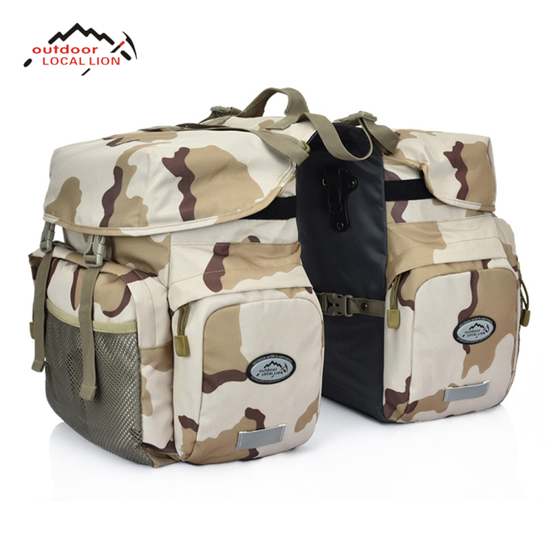 LOCAL LION Bike Bicycle Pannier Pouch Basket Cycling Carry Bag Bike Luggage Package Canvas Large Seat Bicycle Carrier Bag