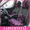 Ladycrystal Soft Wool Plush Pillows Heardrest Neck Waist Hold Pillows Diamond Car Styling Auto interior Accessories