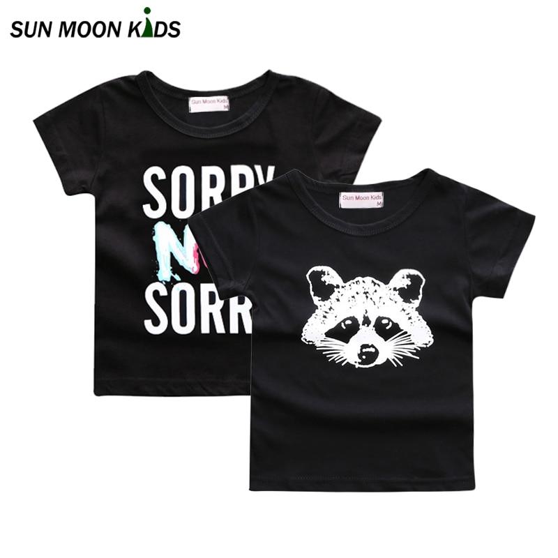 Sun Moon Kids baby t-shirt fashion baby boys girls tops tee cotton fox newborn clothes infant t shirt toddler girls clothing