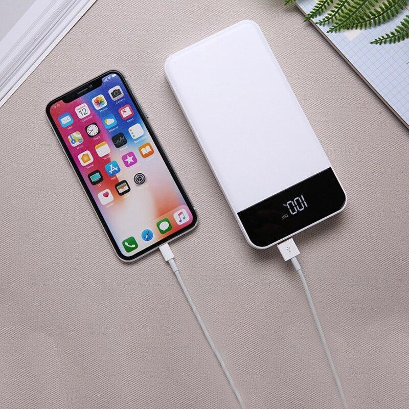 20000 mAh batterie externe 4USB puissance mobile LCD affichage numérique charge trésor type-c puissance mobile pour xiaomi pour iphone 6/7/8 plus - 3