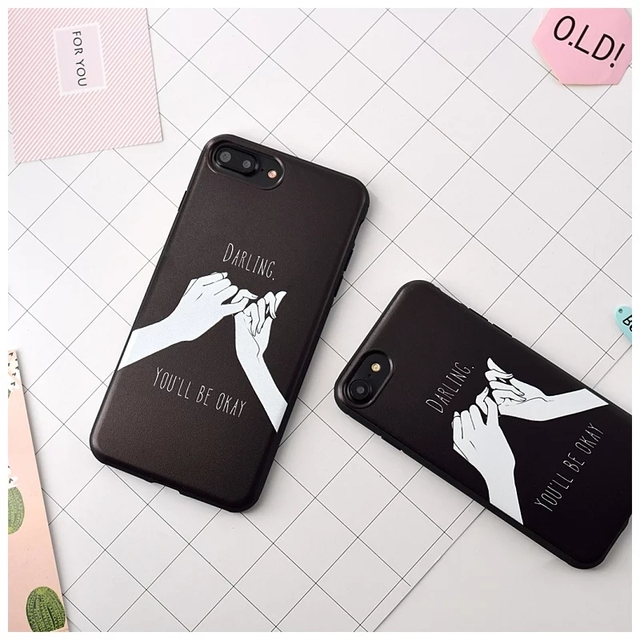 on sale 213e5 2dff8 US $3.99  A Pair Of Pinky Swear Love Couple Cases For iPhone 6,6s,6 Plus,6s  Plus Phone Case High Quality Soft Protective PINK Case Cover-in Fitted ...
