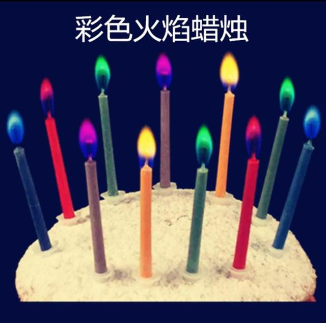 60bag 30g Amazing Magical Flames Mystical Fire Birthday Candle Toyfood Grade 5cm One Off Make Rainbow Color D10