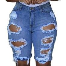 c1d2269c04a976 Jeans Frau Männer Kleidung 2018 Zerrissene Jeans mujer Elastische Zerstört  Loch Leggings Kurze Hosen Denim Shorts