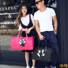 2016 new Fashion Family pattern bags Nylon waterproof shoulder bag large capacity travel bag men and women travel bags