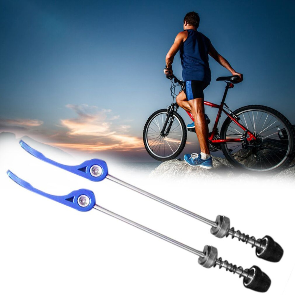 A Pair Road Mountain Bike Cycling Wheel Hub Skewers Quick Release Axle New