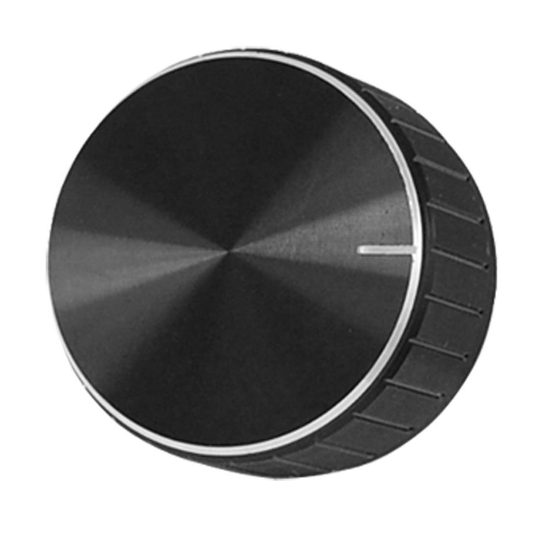 Black Aluminum Volume Control Amplifier Knob Wheel dhl ems 10 lots 43 x 20mm knob grey finish alps volume for diy amplifier upgrad g2
