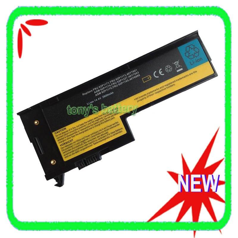 US $19 68 |4Cell Battery for IBM Lenovo ThinkPad X60 X60s X61 X61s 42T4505  42T4506 42T4632 92P1167 40Y6999 40Y7001 X61s 7669-in Laptop Batteries from