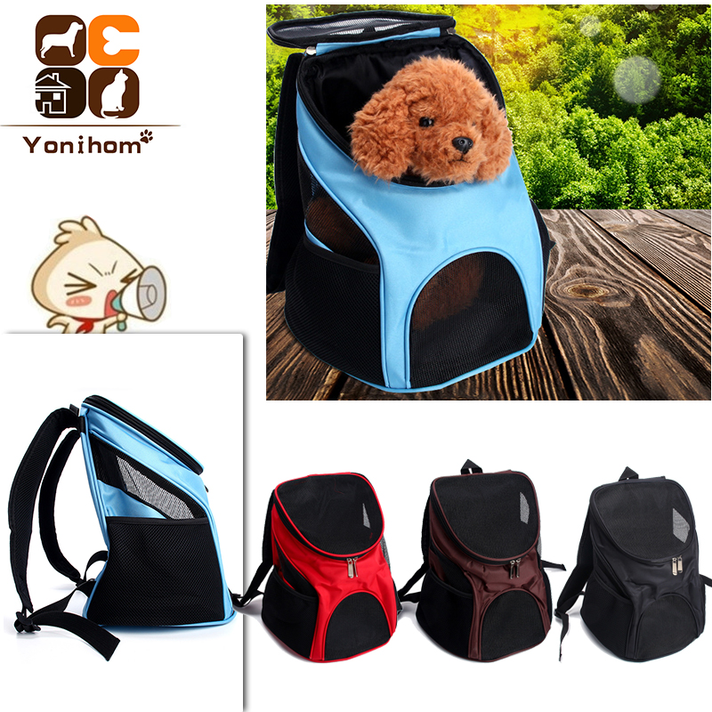 Pet Dog Carriers Backpack Bags Pet Cat Outdoor Travel Carrier Packbag Portable Zipper Mesh Backpack Breathable Dog Bags Supplies
