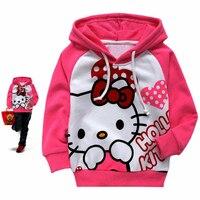 SHUZHI Hello Kitty Kinderen hoodies kinderen truien meisjes bovenkleding meisje Lange mouwen sweatshirts 2-8 jaar