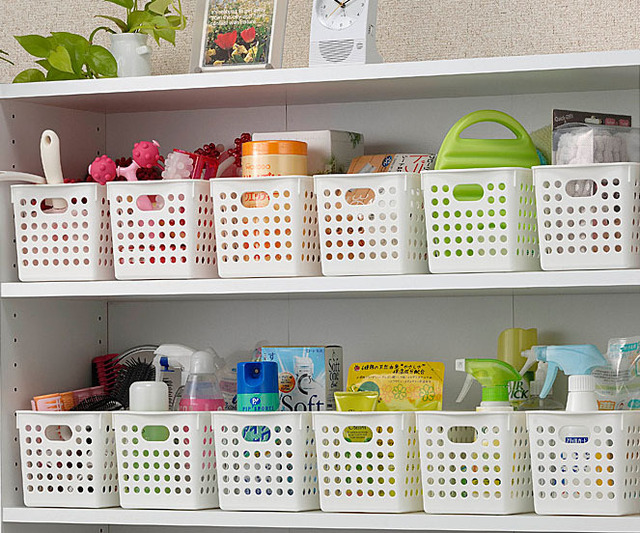 Mini Order 20 Can Mix Oeder Inomata Plastic Storage Basket Box Bathroom. Plastic Bathroom Storage Bins   Bathroom