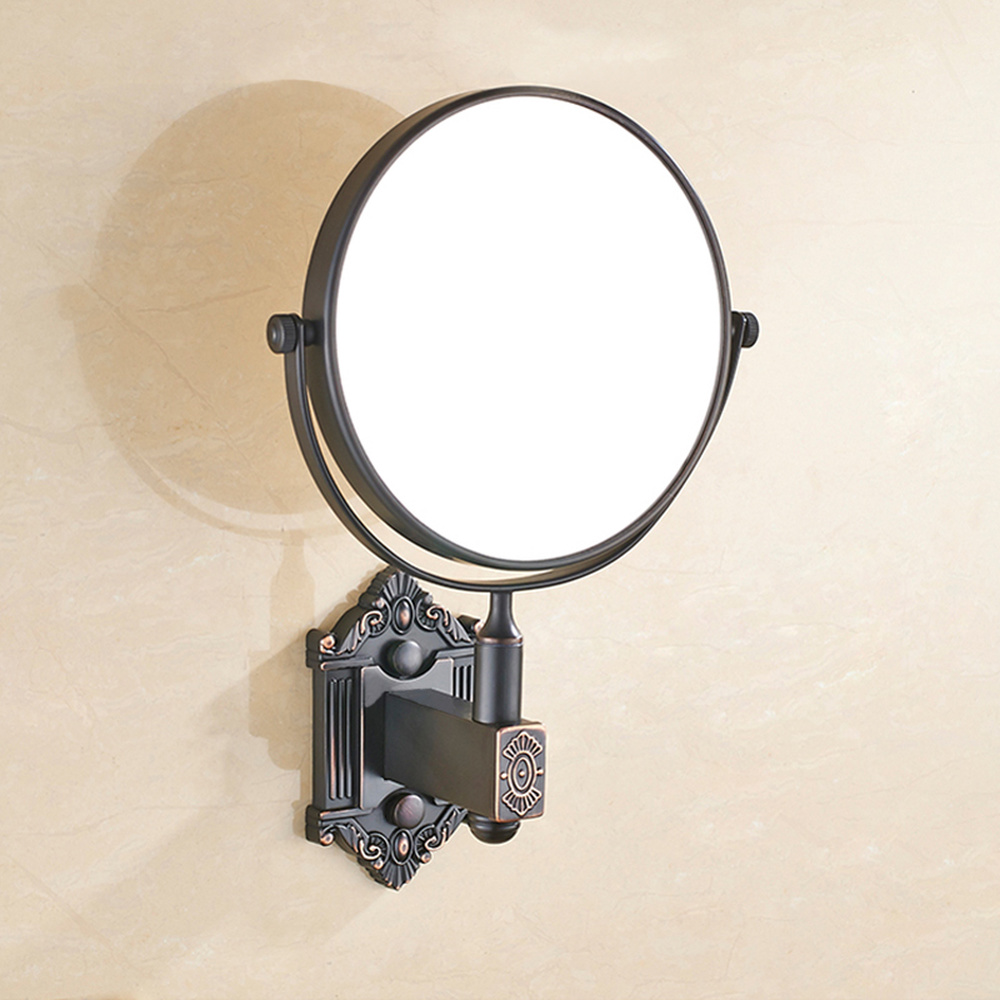 A1 Hotel bathroom mirror double-sided beauty mirror wall hanging rotating folding mirror copper LO74157 1unit column a4 double sided gallery hanging systems wire hanging picture hanging systems for agent hotel retail store